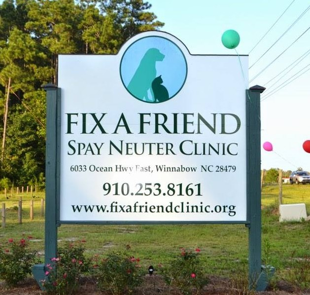 Fix A Friend Clinic Sign